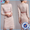 Yihao New fashion sexy midi lace dress,long sleeve floral women lace dress designs
