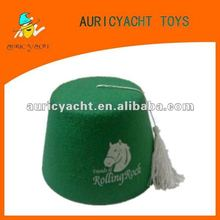 new green equitation hat for party favor