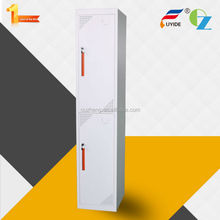 Knocked down factory price new style ventilation holes small two door metal bedroom wardrobe