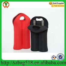 custom made tote beer neoprene wine bag/travel water thermos wine bottle bag