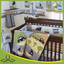 100% cotton cars and boat boy love nursery baby bedding sets