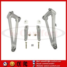 KCM138 For YAMAHA YZF R1 2009-2011 2011 YZFR1 09 10 11 Motorcycle Rear Passenger Foot Pegs Foot rest With Brackets NEW