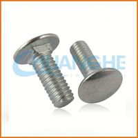 Alibaba China Fastener flat head carriage bolt stainless steel