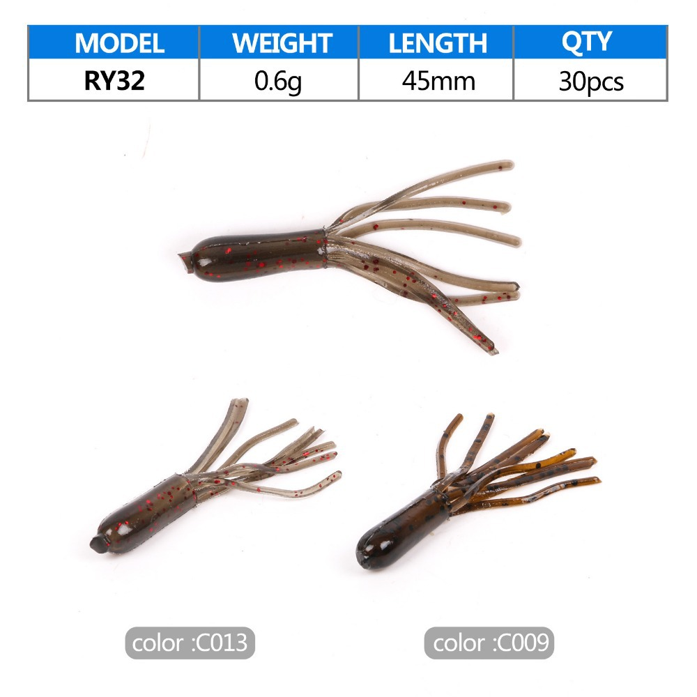 Wholesale in stock soft tube fishing lure buy tube for Tube fishing lure