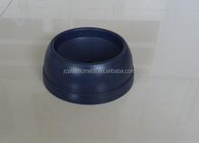 Yellow burly durable plastic pet bowl