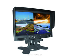 7 inch lcd color quad monitor 4 triggers