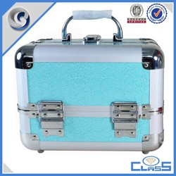 MLD-AC2979 Double open box type aluminum makeup tool case with tray