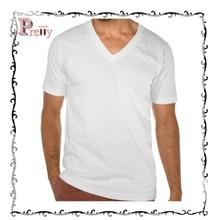 65% cotton 35% Spandex eco-friendly material mens deep v neck t shirt
