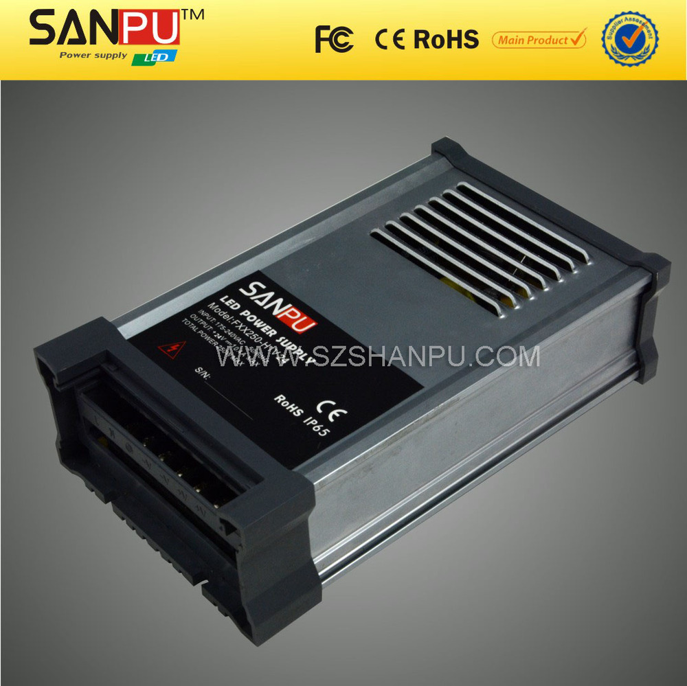 Sanpu 2015 hot selling 250w 24v waterproof ac dc power supply