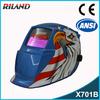 Riland Solar Power UV/IR protection X701B DIN 9-13 Griding Auto Darkening helmet for dc welding machine