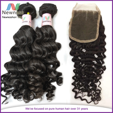 Prompt delivery cheapest human hair with free shipping wholesale price cheap peruvian deep wave with closure