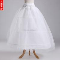 Hot A-Line Petticoat 3 Hoops 2 Layer Organza Underskirt Wedding Accessories Wedding Dress Crinoline PC02 Ball Gown Petticoat