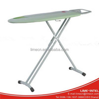 European folding three legs portable ironing board with steam iron rest