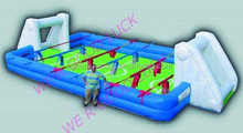 High quality red inflatable soap football field, inflatable water soccer pitch