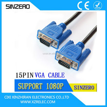 NEW High Quality HD15 VGA cable male to male/D-SUB DB 15 VGA CABLE/Male to male VGA cable