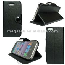 super slim Wallet flip leather case for iphone 5 5s , for iphone 5 case auto sleep wake