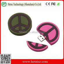 Customised 2D/3D Rubber USB Flash Drive / Soft Rubber 8GB USB