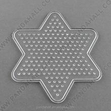 ABC Pegboard Rack for DIY Fuse Beads, Star, Clear, 103x92x5mm(DIY-R014-03)