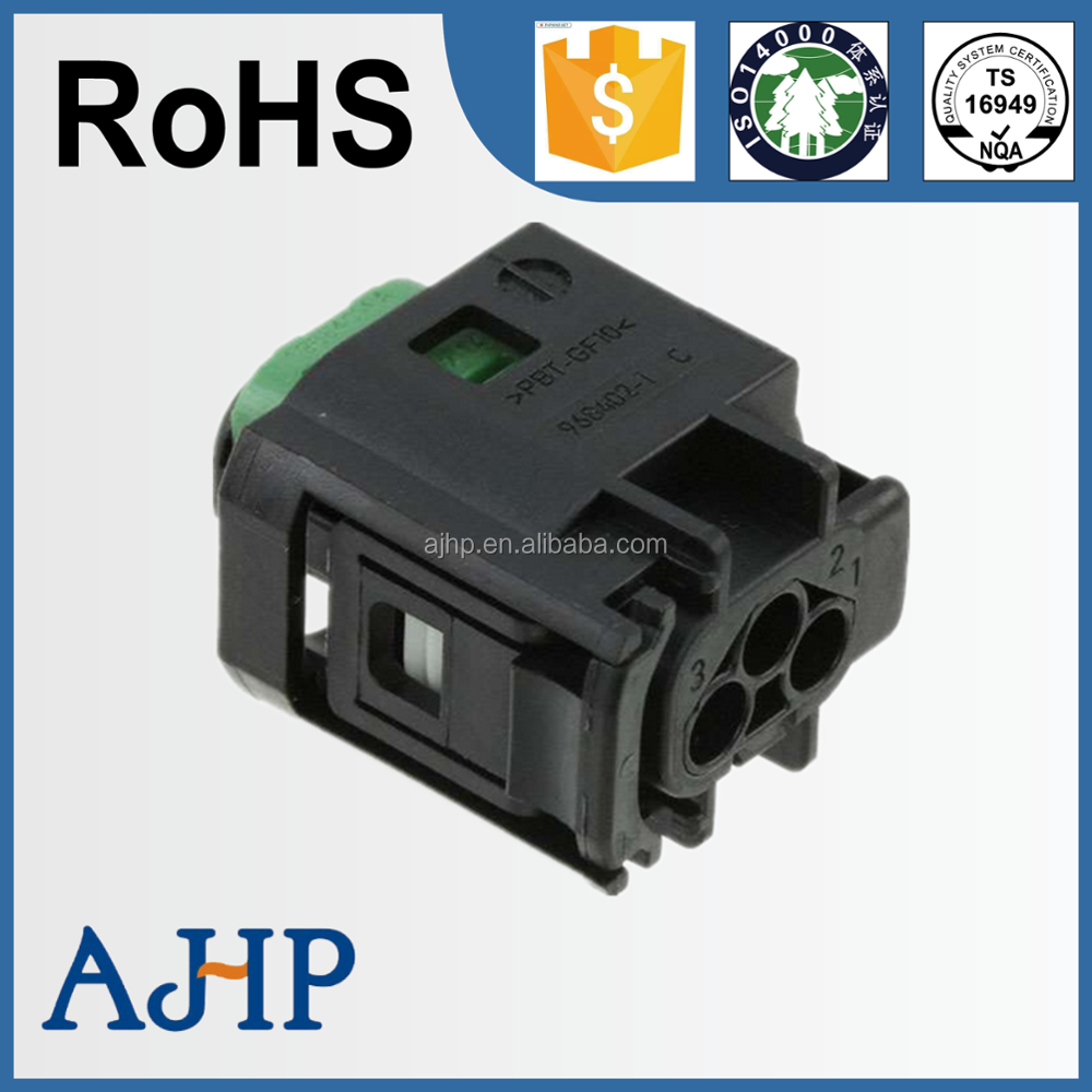 3 Pin Female Male Auto Waterproof Electric Wiring Harness Connector Bmw Connectors 1 967642 Tyco Amp Automotive For