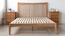 Newest hotsell high headboard wooden bed frame