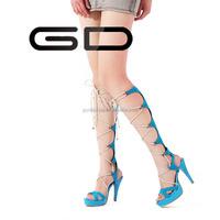 classic shiny high cut sandal shoes for girls