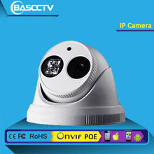 HD IP Dome Camera, ONVIF, P2P, CMS, 4 /6 / 8 mm fixed lens (2.0 Megapixel), 1 pcs Array IR LED, 20-30m IR, 1.0/1.3/2.0Megapixel