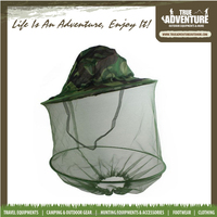 F029 Fashion Women Men Anti Fly Insect Fishing Wild Field Jungle Sun Protection Hat Wide Brim Bucket Hat with Mesh Cover