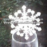 """Trail and mixed order!!Merry christmas""""snowing""""fancy christmas place cards for wine glass"""