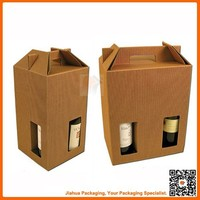 brown corrugated boxes for packaging/corrugated beer and wine carriers