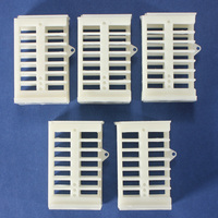 5pcs/lot Excellent quality plastic Functional Queen Cage Bee Moving Catcher Cage with Covers Beekeeping Tools equipment