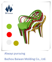stacking bright colored wholesale plastic chairs