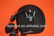 2012 Black Cover With Your Logo Stereo Headphone case