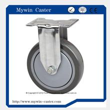 5 inch fixed grey PU caster Medium duty pu caster
