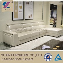 New design living room furniture modern leather top grain sofa