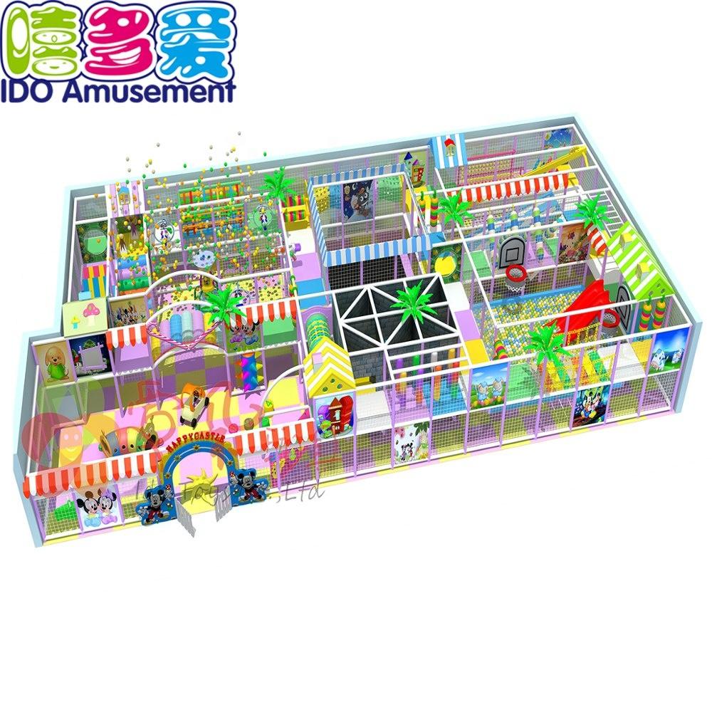 Indoor Parco Giochi Morbido Scivolo 20 Metri Quadrati Bambini Labirinto