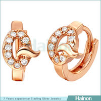 Gold Q letter jewelry high quality silver plated style earring wholesale