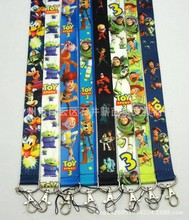 Wholesale 2015 New Polyester Cartoon Toy Story 3 Keychains with Lanyard Keyrings Lanyards