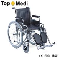 Rehabilitation Therapy Supplies Topmedi Elevating Footrest Steel Wheelchair