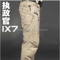 IX7 High quality Men's Outdoor Military Tactical Hiking Pants Black & Khaki Color Casual Pants