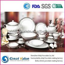 2015 121 cheap bulk porcelain dish set for restaurant