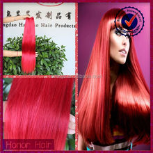 Full cuticle top quality raw unprocessed wholesale 3 bundles red brazilian hair weave