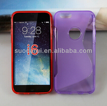 Wholesales cell phone S-line soft gel tpu cover tpu Case for ipod touch 6