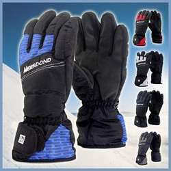 wholesale warm winter leather cheap ski gloves outdoor snowboard waterproof and windproof thermal cycling motorcycle race gloves