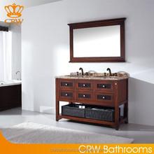 CRW GA018 Double Bowl antique Bathroom Vanity