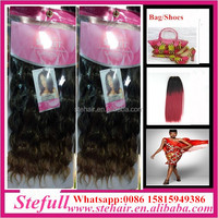 Stefull hair good quality no tangle japanese fiber wholesale synthetic hair extensions