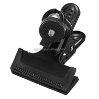 Black Multi-function Spring Clamp Clip With Ball Head Socket for Studio Camera Flash Photograph Shooting Wholesale