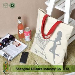 unique shoulder cotton bag custom muslin tote bag casual canvas tote bag