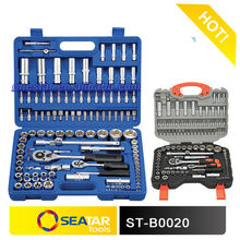 "star tools factory -1/4""&1/2"" square driver CR.V steel forged chrome plated 108 pcs socket set hand tools in blow case"