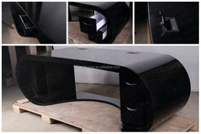2014 new high quality high end curved modern executive desk office table design
