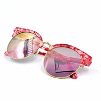 Novelty glasses with gold rim for sunglasses
